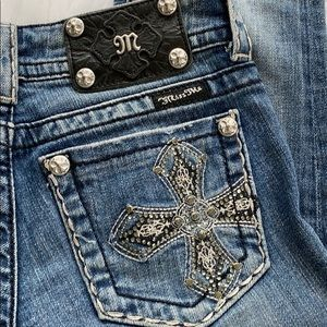 Miss Me Silver Embellished Boot Cut Jeans